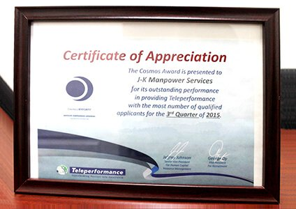 Award from Tele performance